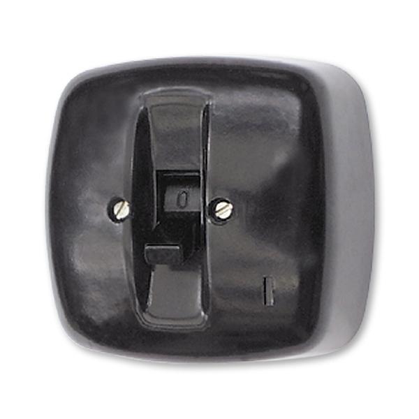 Spínač trojpólový páčkový IP 30, nástenný, čierna