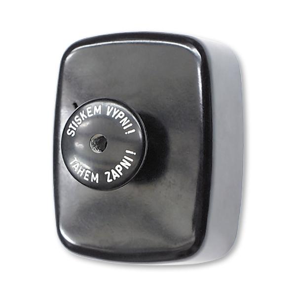 Spínač trojpólový stláčací IP 30, nástenný, čierna