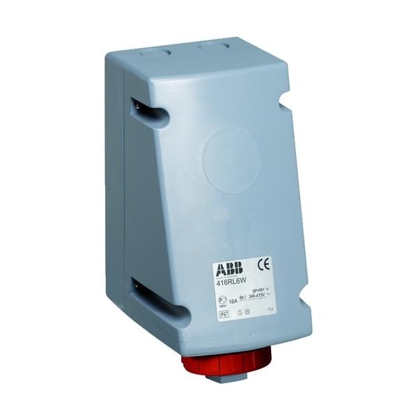 Zásuvka priemyselná IP 67, nástenná, pre slučkovanie, IP 67, 16 A