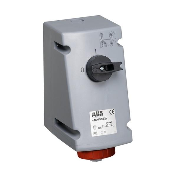 Zásuvka priemyselná IP 67, nástenná, s blokovaným vypínačom, IP 67, 16 A